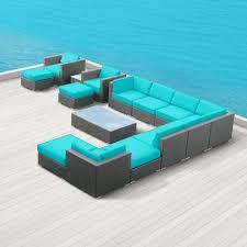 modern wicker patio furniture. Amazon.com : Modern Outdoor Patio Furniture Wicker Bella 15 PIECE TURQUOISE Sets Patio, Lawn \u0026 Garden