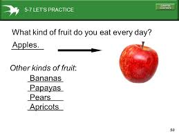 what kind of fruit do you eat every day