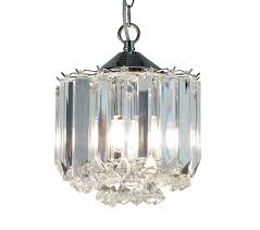 searchlight sigma 3 light ceiling light chrome finish with clear acrylic crystal prisms 6713cc