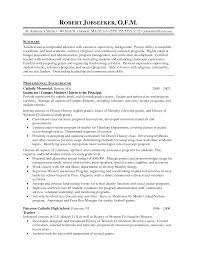 School Principal Resume Resume For Your Job Application