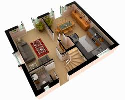 d home design plans inspirations second floor for 3 bedroom 3d