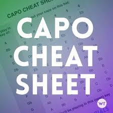 Capo Cheat Sheet Worship Tutorials