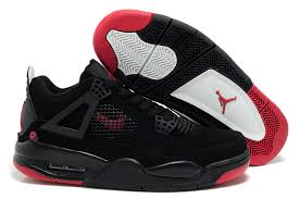 jordan shoes retro 4. 2012 air jordan retro 4 black red logo shoes e
