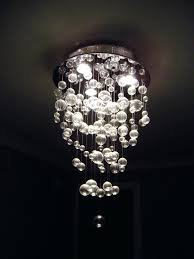 full image for lightings charming glass bubble chandelier with round holder in chrome as modern ceiling