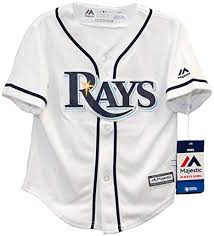 Majestic Baseball Jersey Size Chart Amazon Com Majestic Toddler Mlb Tampa Bay Rays White Navy