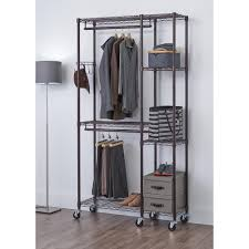 wire closet shelving. 77 In. H X 41 W 14 D Dark Bronze Wire Closet Shelving