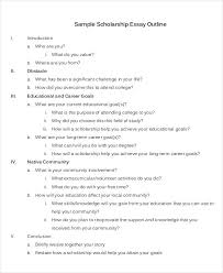 scholarship essay examples samples scholarship essay outline