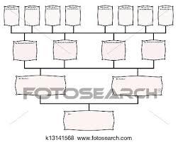 Blank Family Tree Chart Stock Illustration K13141568