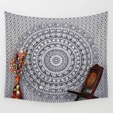 beautiful inspiration wall hanging tapestry modern decoration design black and white hippie elephant uk