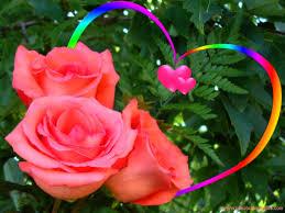 Love Rainbow Heart Colored Beautiful ...