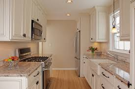 kitchen design ideas with white appliances. farmhouse kitchen sink, granite countertops, white cabinets and stainless steel appliances create a fresh design ideas with