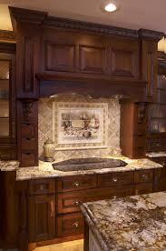 stone kitchen backsplash dark cabinets.  Dark Beautifully Idea Kitchen Stone Backsplash Dark Cabinets Cars On Layered  Ideas Shabby Chic Style In P