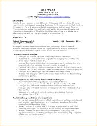 Resume Format For Customer Service Manager Free Resume Example