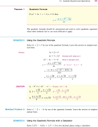 solution x x x x x x x 0 b b ac a multiply both sides by write in standard form