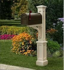 mailbox post ideas. Charming Decorative Mailbox Post Ideas E