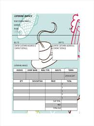 Catering Bill Template Invoices Samples Example Invoice 6 Receipts