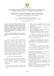 Pdf Software Testing Strategies And Techniques