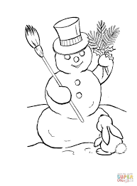 Small Picture Cute Cartoon Snowman coloring page Free Printable Coloring Pages
