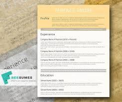 free cv layout 100 free resume templates psd word utemplates
