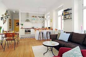 living room design open kitchen