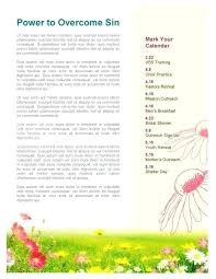 Spring Newsletter Template Templates Free Word