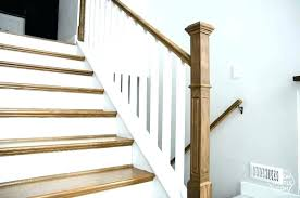 replace stair railing. Staircase Spindles Wooden Replacement Stair Replacing Railing How To Install A Handrail On Split Level Stairs The Way Replace I