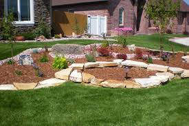 Round rock gardens Yard Raised Garden Boring Front Yard Can Be Easily Transformed Into Something You Can Be Proud Of We Dry Stacked Siloam Stone To Make Planting Area With Yelp Cheyenne Landscaping And Wyoming Landscaping Company Capital City
