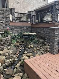 diy backyard pond waterfall water feature ideas genstone