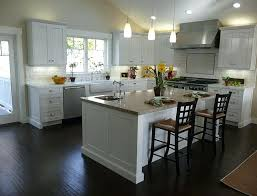 kitchen cabinet ideas with dark wood floors antique white kitchen cabinets with dark floors