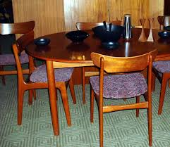 Teak Oval Dining Table Tiny Floating Teak Dining Room Furniture On Calm Floor Near White