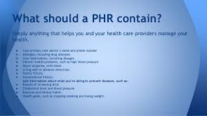 Personal Health Records