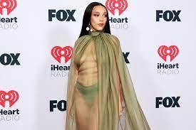 Doja Cat stuns in fully sheer gown for ...