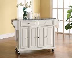 Crosley Kitchen Cart With Granite Top Amazoncom Crosley Furniture Solid Granite Top Kitchen Cart
