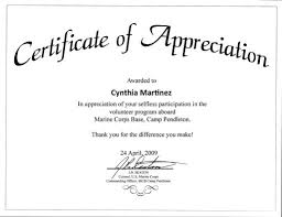 Certificate Of Appreciation Volunteer Work Awards Recognitions Words Of Comfort Hope And Promise