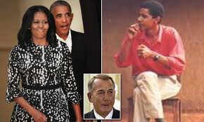 Outgoing house speaker john boehner defended his cigarette smoking during a september 12, 2010 interview on face the nation.. Obama Quit Smoking Because He S Scared Of Michelle Daily Mail Online