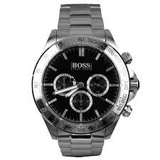 hugo boss black 1512965 ikon watch silver mainline menswear hugo boss black 1512965 ikon watch silver