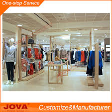 Wooden ladies garment shop counter design apparel store display shop  furniture for clothes