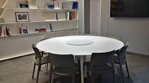 contemporary conference table solid surface round 2