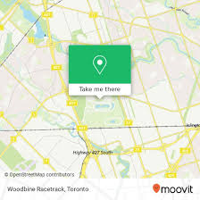 to woodbine racetrack in toronto by bus