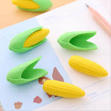 creative office supplies. 2PcsLot Cartoon Corn Modeling Eraser Rubber Stationery Shaped Creative Kawaii School Supplies Learning Office F