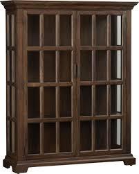 Glass Door Cabinet Flagrant Interior Furniture Kitchen Room Rustic Brown Wooden Glass