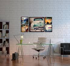 vintage office decorating ideas. Wood Photo Blocks- Vintage Cars- Home Decor- Wall Art- Car Art, Decor, Office Betty Sue And Her Suitors Decorating Ideas