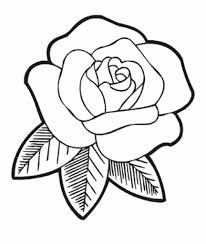 Coloring Page : Magnificent Simple Rose To Draw How Roses Coloring ...