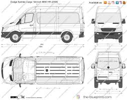 dodge sprinter cargo 144 inch 8850 hr vector drawing