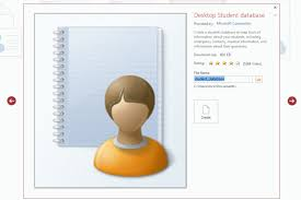 student database template how to set contact details of student in access 2013