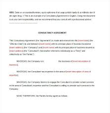 Business Agreement Associate Contract Example Of Consultant Template ...