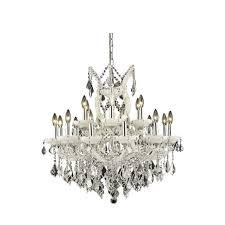 elegant lighting maria theresa 19 light elements crystal chandelier