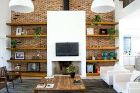 8 wall design ideas for your living room a real fireplace sits beneath tv designs bedroom