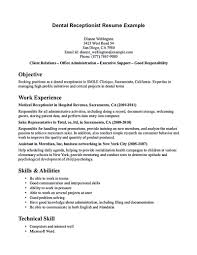 Resume For Receptionist Position Resume Objective Examples For Receptionist Position Examples Of 11