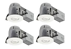 4 inch led ic rated swivel spotlight recessed lighting kit dimmable downlight 50w